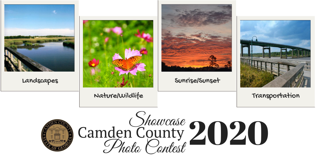 2020 Showcase Camden County Photo Contest Banner