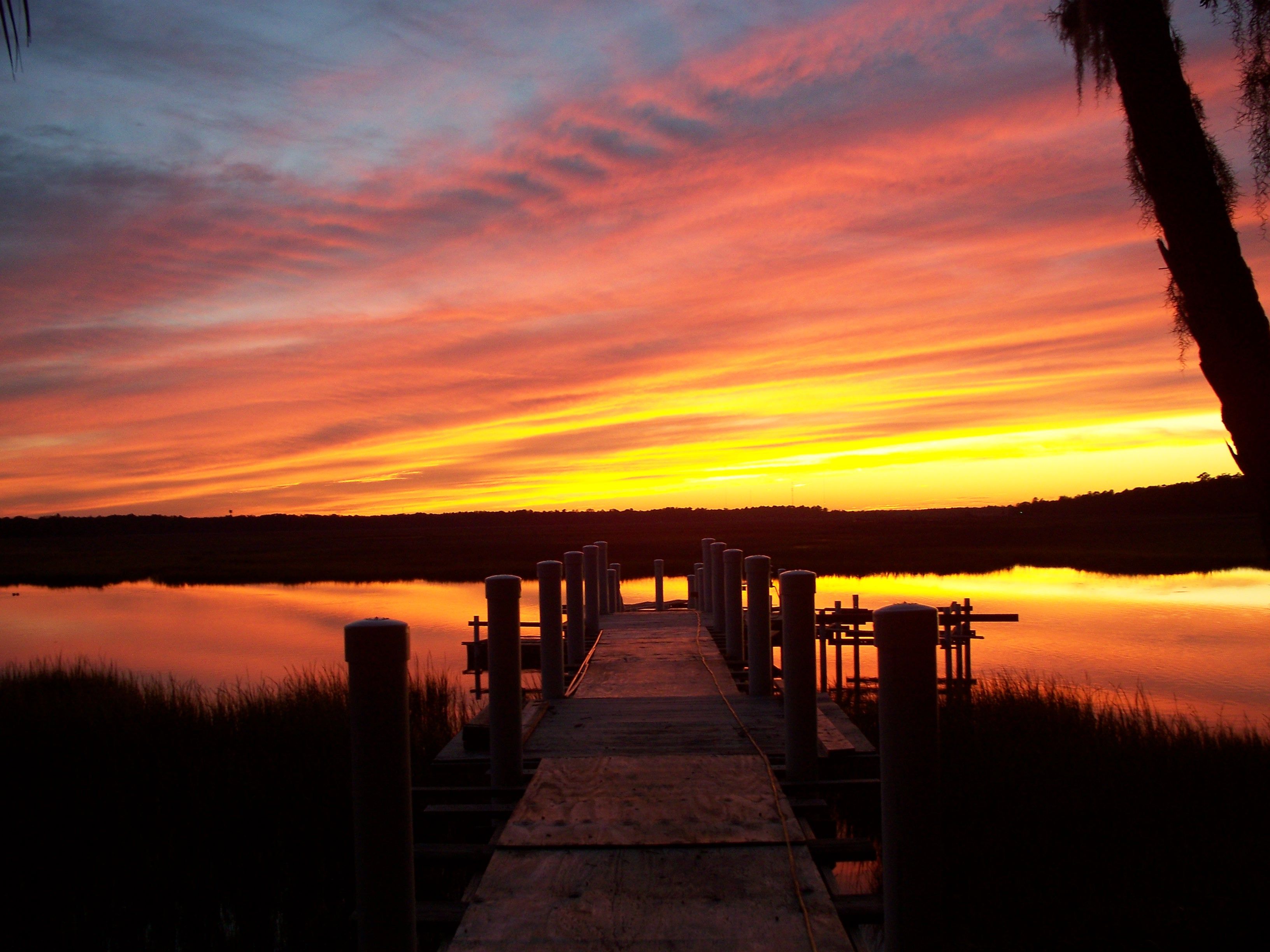 June Pounds - Sunset Dock.JPG