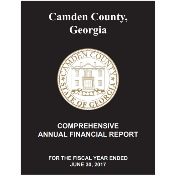 Camden County Comprehensive Annual Finance Report (CAFR)
