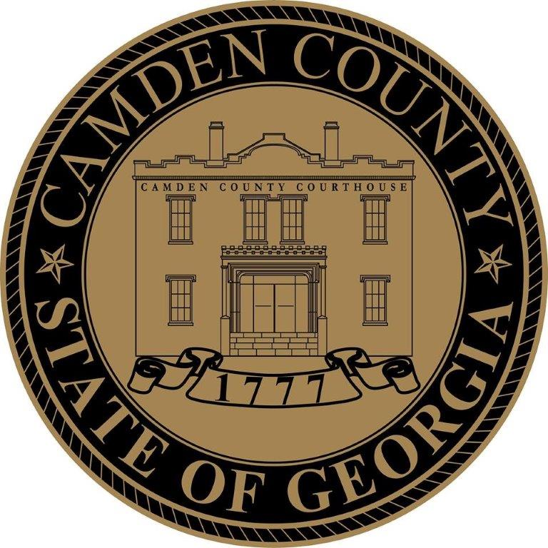 Gold & Black Camden County Seal