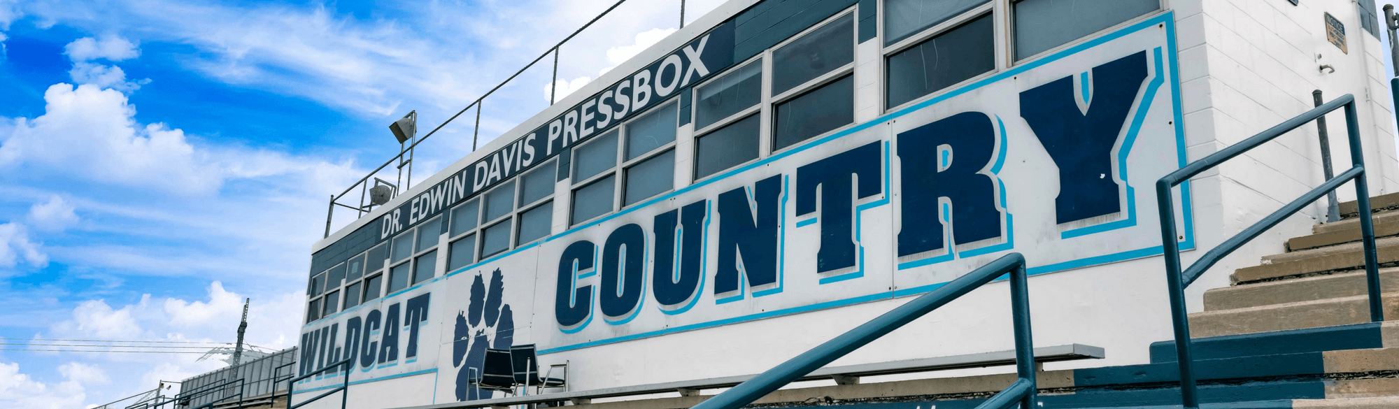 Dr. Edwin Davis Pressbox at Chris Gilman Stadium