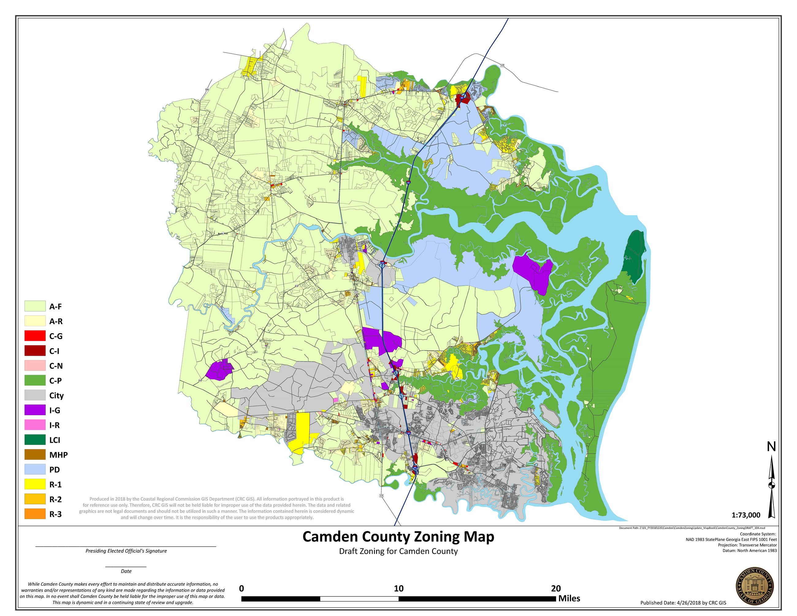 DRAFT Camden County Zoning Map